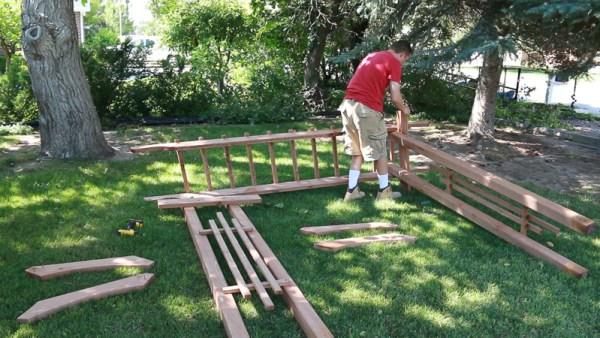 how to build a portable garden arbor wedding arch