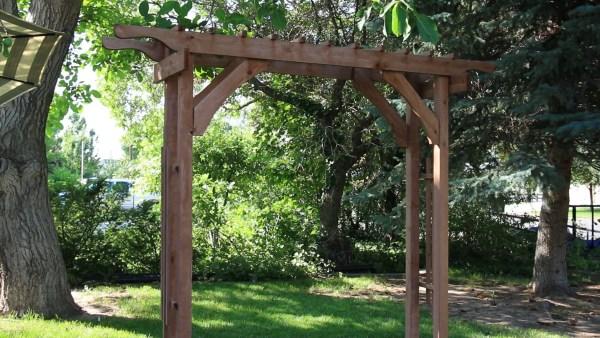 2x4 Garden Arbor, Wood Wedding Arch