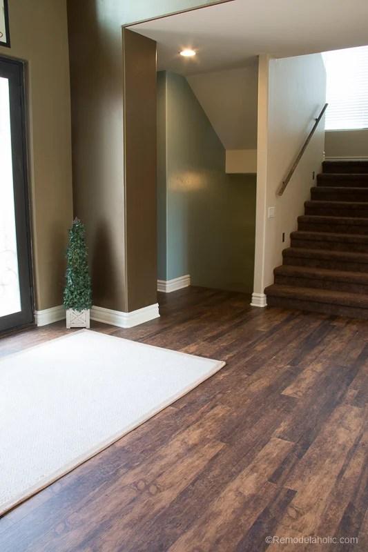 remodelaholic waterproof wood look flooring. Black Bedroom Furniture Sets. Home Design Ideas
