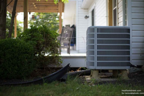 Outdoor Air Conditioner Screen Heatherednest.com For Remodelaholic 1