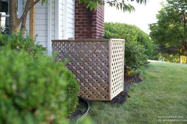 Outdoor Air Conditioner Screen Heatherednest.com For Remodelaholic 15