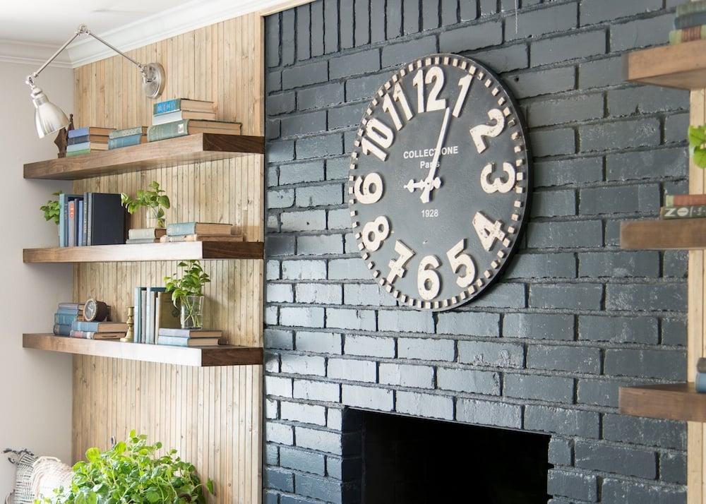 Fixer Upper Pocket Door House Living Room Fireplace