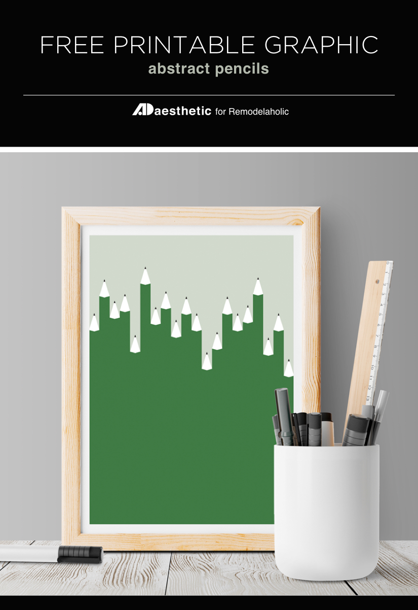 Back to school time! Free Printable Graphic • Abstract Pencils • AD Aesthetic For Remodelaholic
