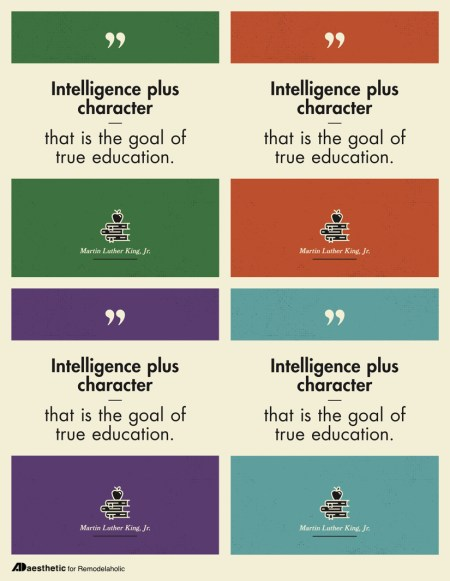 Free Printable Graphic • Intelligence Plus Character • AD Aesthetic For Remodelaholic • Horizontal Copy
