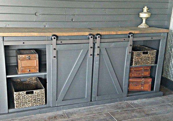 How To Build A Sliding Barn Door Console For Your Man Cave 21