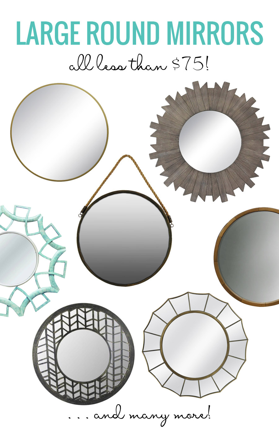 An Affordable Collection of Stylish, Large Round Mirrors
