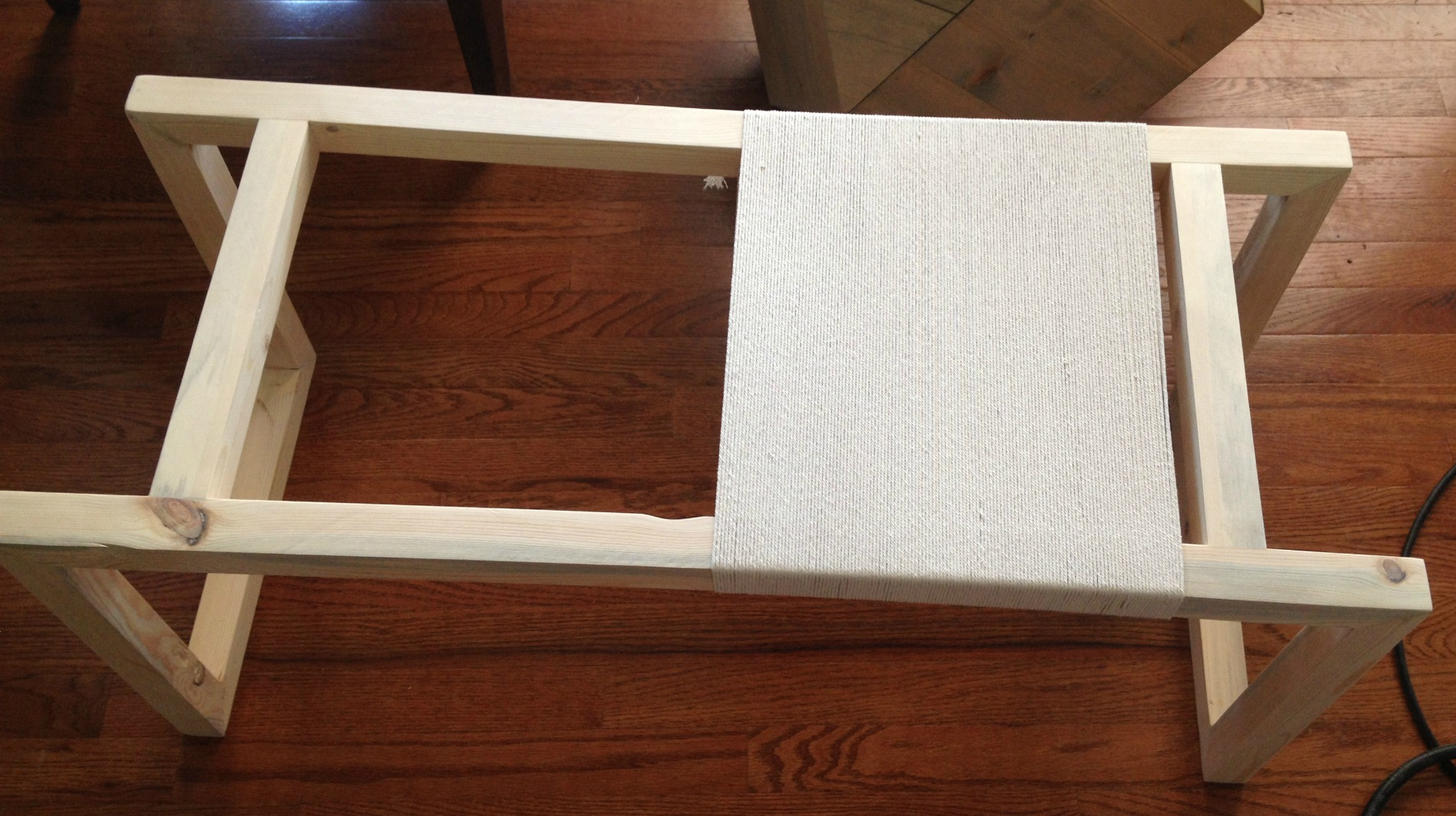 Woodshop Diaries Woven Bench Weave Primary Color