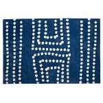 Blue Boys Playroom 01 Blue Geometric Rug