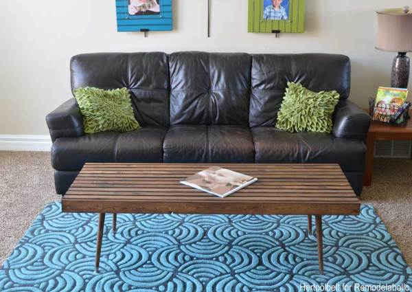 Build an easy simple and stylish MCM coffee table with free plans.