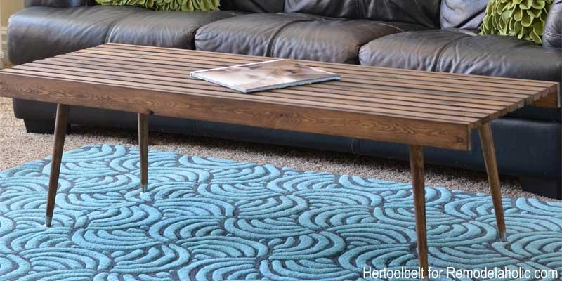Bon DIY Modern Slat Coffee Table Building Plan