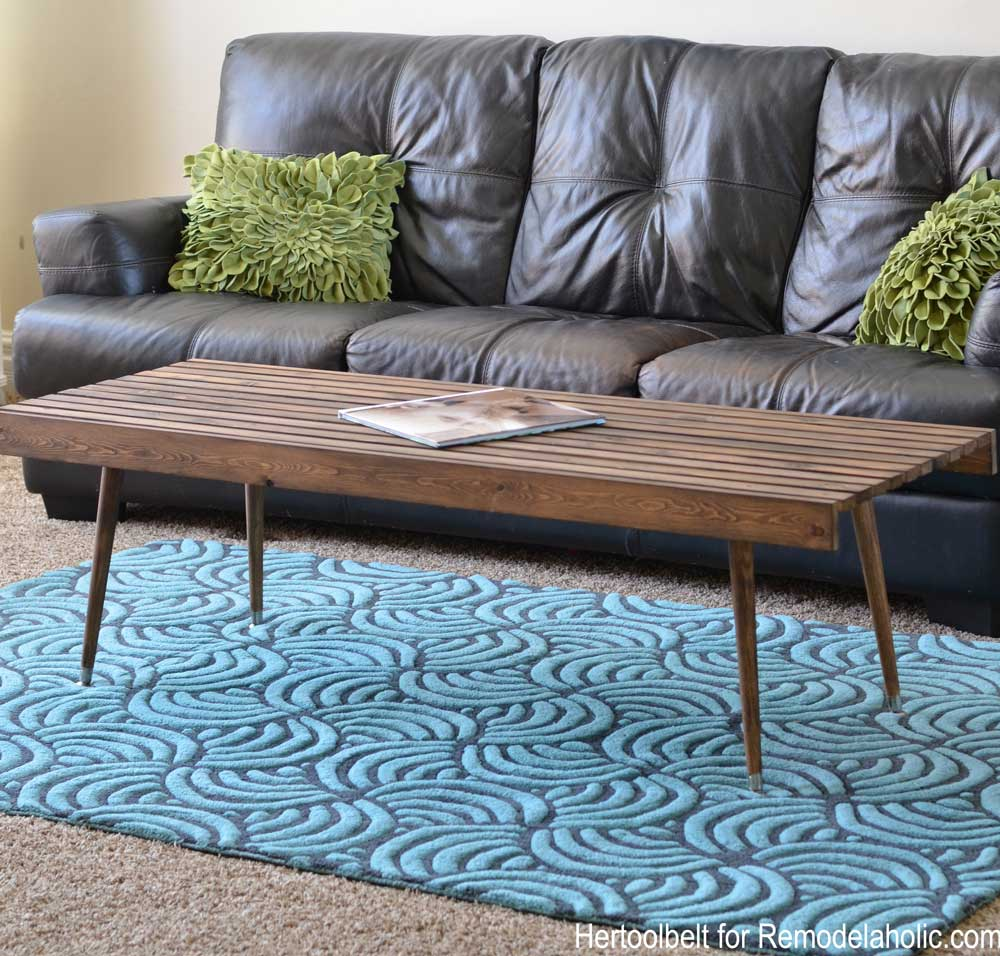 Easy Coffee Table.Remodelaholic Diy Modern Slat Coffee Table Building Plan