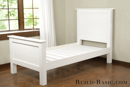 Build A DIY Beadboard Twin Bed By Build Basic Finish Shot
