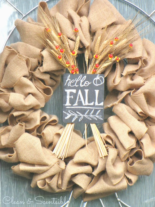 Burlap Wreath Clean And Scentsible