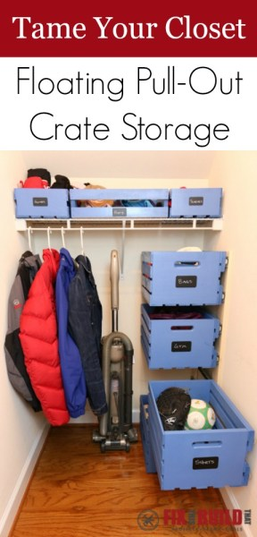 DIY Floating Pull Out Crate Storage P01