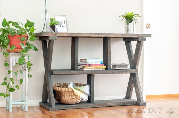 DIY Rustic X Leg Console Table Anikas DIY Life 4 700