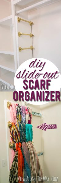 DIY Slide Out Scarf Organizer