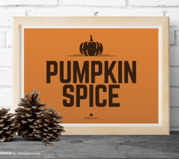 Free Printable Graphic • Pumpkin Spice • AD Aesthetic For Remodelaholic • Horizontal
