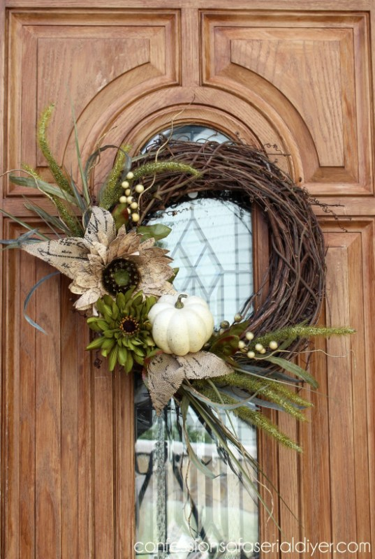 New Fall Wreath Confessions of a Serial DIYer