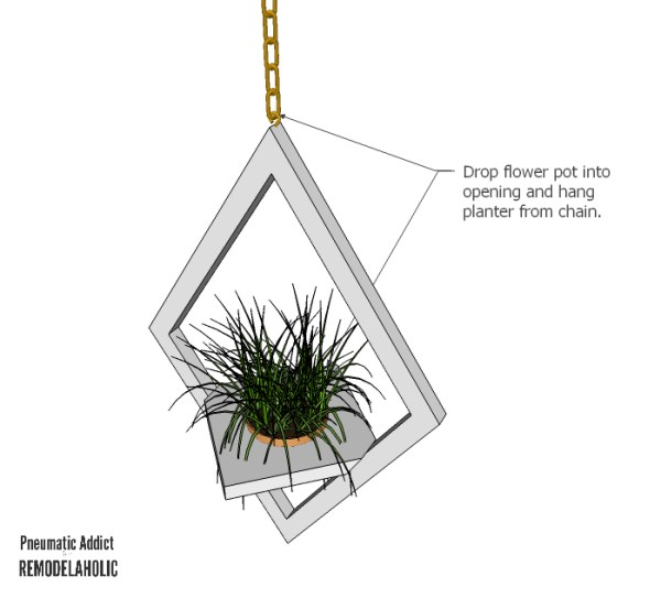 West Elm Hanging Planter Plant WM