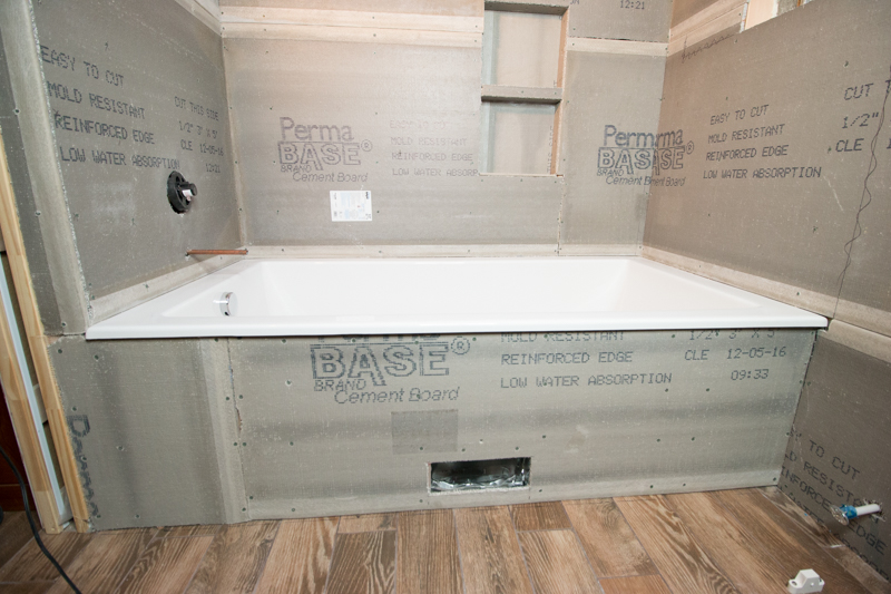 Remodelaholic basement bathroom drywall and cement board installation What sheetrock to use in bathroom