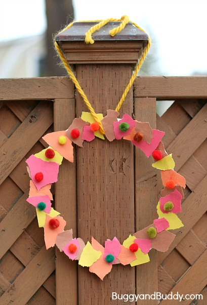 Buggy And Buddy Kids Fall Wreath