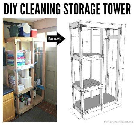Cleaning Storage Tower Collage