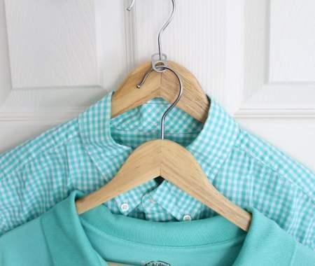 Closet Hacks Use A Soda Tab To Double The Hangers