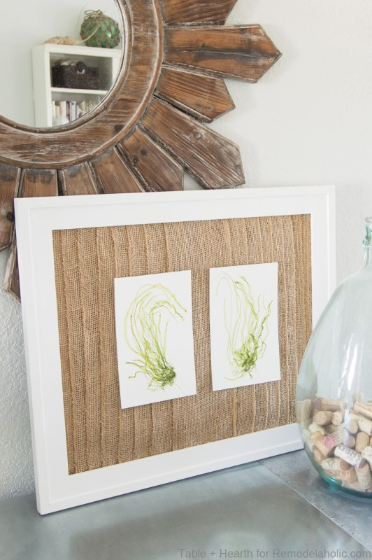 Remodelaholic | How to Make a Rustic Coastal Layered Burlap Frame Mat