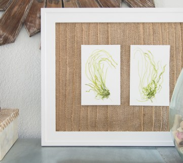How to Make a Rustic Coastal Layered Burlap Frame Mat