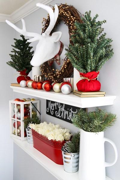 Christmas Shelves From Side