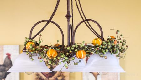 Citrus Ornaments On Garland