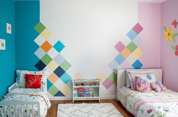 Colorful Accent Wall Kids Room Anikas DIY Life 700 14