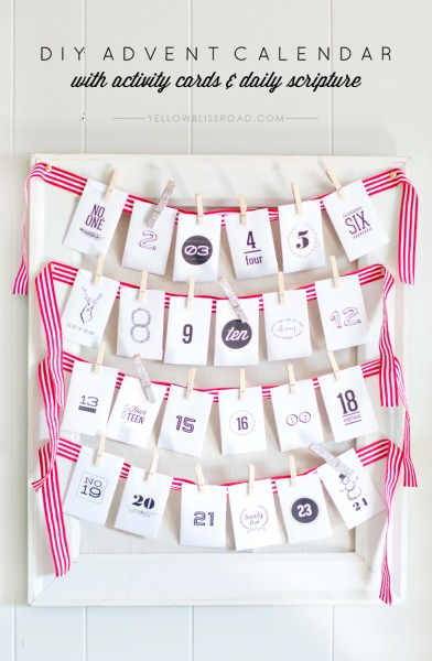 DIY Advent Calendar With Activity Cards And Daily Scripture