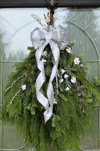 DIY Christmas Swag Wreath Edit 1