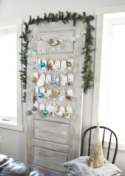 DIY Ornament A Day Christmas Advent Calendar Made From An Old Door 11 731x1024