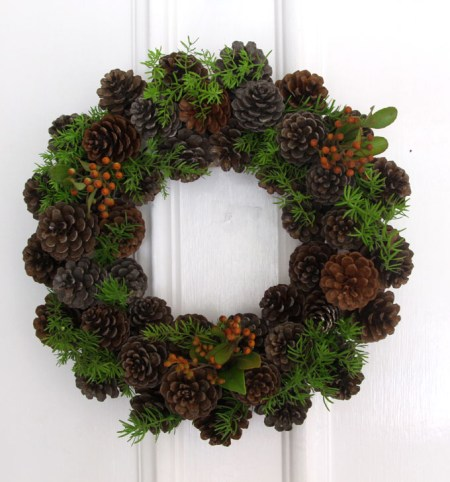 DIY Pinecone Wreath Apieceofrainbowblog 9