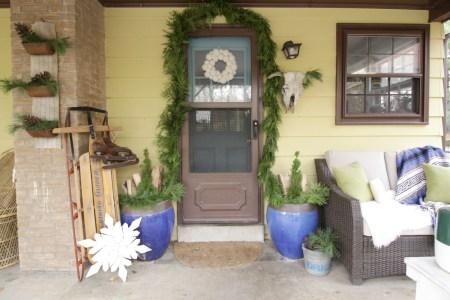 Eclectic Vintage Bohemian Porch Blue Green 2