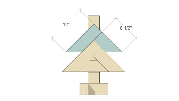 Remodelaholic Herringbone Tree Assemble Herringbone 3