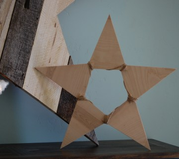 Another Easy DIY Wood Star for Christmas: Plywood Pennant Triangle Star