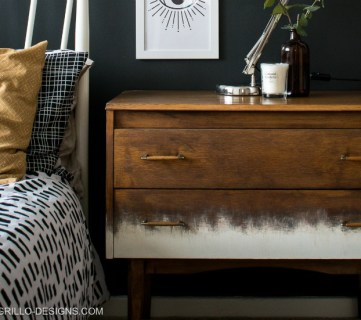 Rustic Mid Century Dresser Makeover For Bedtoom Grillo Designs