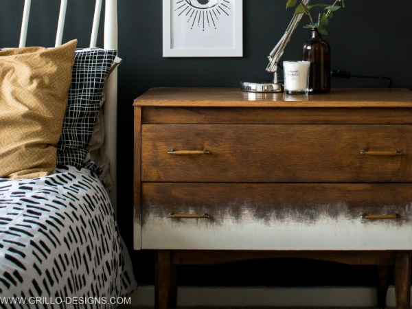 Rustic Mid Century Dresser Makeover For Bedtoom Grillo Designs