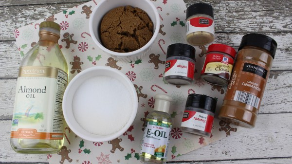 A Fun And Festive DIY Gift Idea And Recipe For Natural Gingerbread Sugar Scrub Via Remodelaholic.com