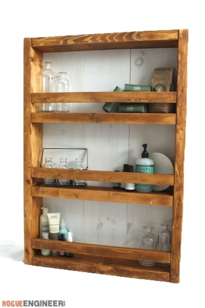 Apothecary DIY Wall Shelf Plans Rogue Engineer 21