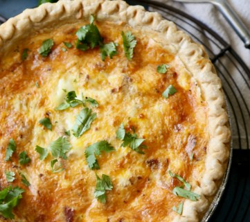 Bacon & Cheese Quiche Remodelaholic 5