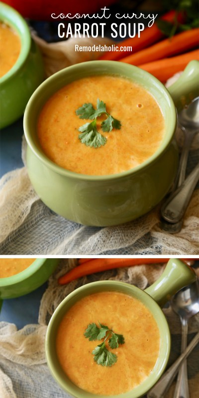 Coconut Curry Carrot Soup Remodelaholic