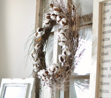 DIY Cotton Wreath 2