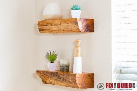 DIY Floating Shelves From Firewood 1