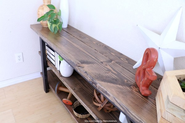DIY Modern Rustic Console Table, Console Table Tutorial, MyLove2Create
