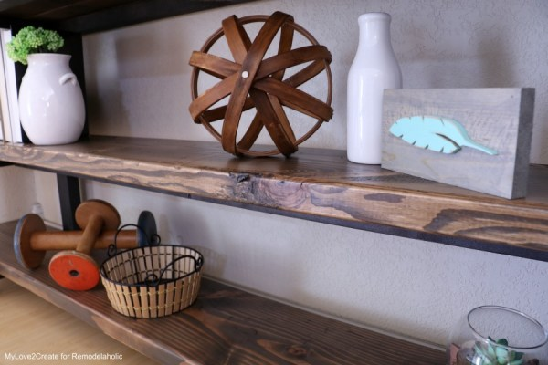 DIY Modern Rustic Console Table, Diy Console Table Shelves, MyLove2Create