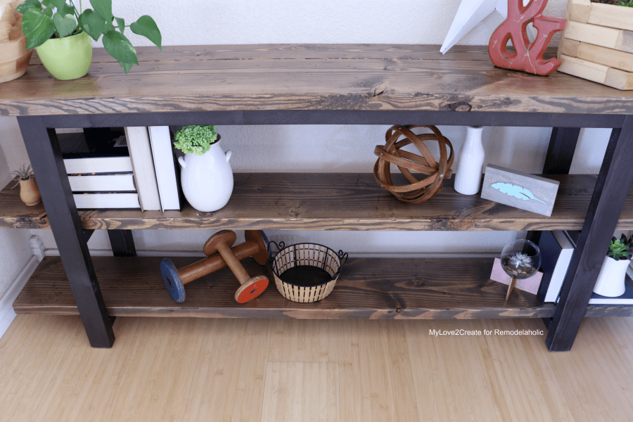 make a rustic sofa table italian leather nj remodelaholic pottery barn inspired modern console diy your own mylove2create